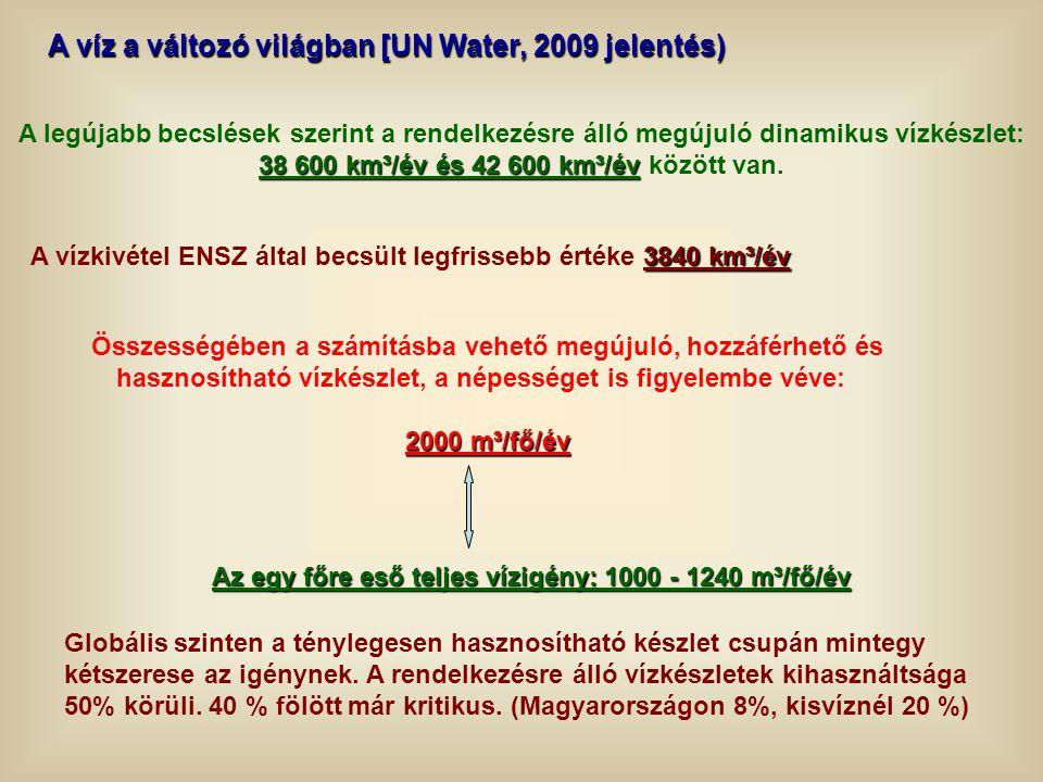 A víz a változó világban [UN Water, 2009 jelentés)